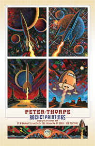 Peter THorpe Rocket Paintings